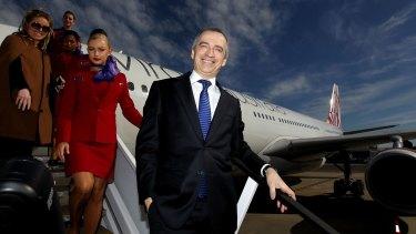 Virgin Australia chief executive John Borghetti cut the ribbon on his new dedicated domestic terminal at Perth Airport on Friday evening.