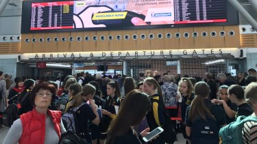 Passengers face delayed screening at Sydney Airport.
