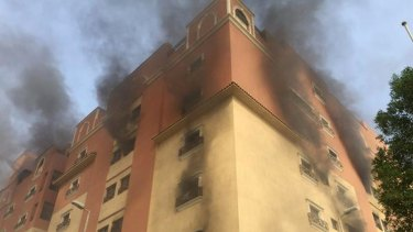 Authorities said 10 people were killed and dozens were injured in the fire.