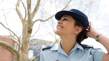 Sergeant Valerie Wagstaff is the first openly transgender officer in the NSW Police Force.