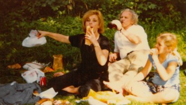 "The Harcourts picnic in gardens of Fontainebleau, France, in 1980: ""At the end of each trip he would say that's the last one. There's no money left."""