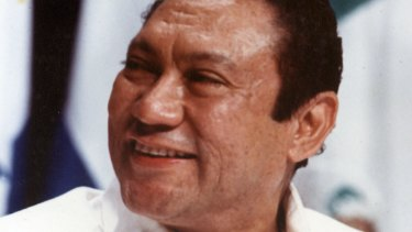 Panamanian strongman Manuel Antonio Noriega in Panama City in 1998.
