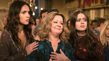 Adria Arjoni, Melissa McCarthy and Molly Gordon in a scene from Life of the Party.