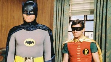 The Dynamic Duo: Adam West as Batman and Burt Ward as Robin.