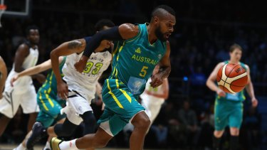 On the run: Boomers star Patty Mills was dominant in the recent series against the PAC-12 All Stars.