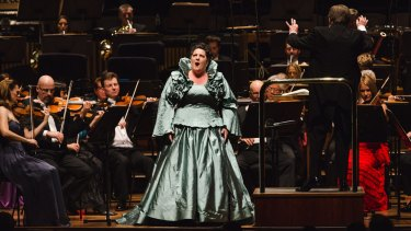 contralto Liane Keegan performs with the MSO at Last Night At The Proms.