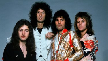 The band's original line-up: John Deacon, Brian May, Freddie Mercury and Roger Taylor.
