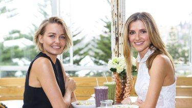 Lara Worthington (left with Kate Waterhouse), is juggling parenthood with her own business.