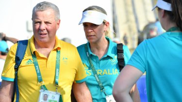 Mike Tancred and Kitty Chiller at the Rio Olympics.