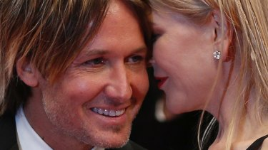 Actress Nicole Kidman and her husband Keith Urban at the 70th international film festival, Cannes.