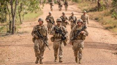US Marines conducting training from a base near Darwin.