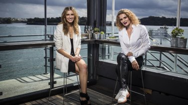 Kate Waterhouse talks to actor Danielle Cormack at the Sydney Theatre Company Bar.