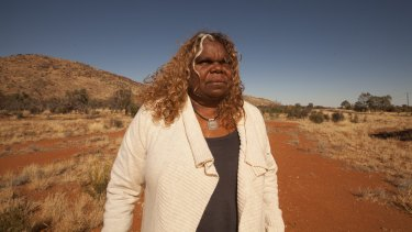 Bess Price, a minister in the Northern Territory government, on the road to Yuendemu in Walpiri country, north-west of Alice Springs.