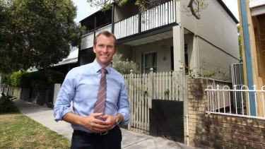 NSW Planning Minister Rob Stokes wants to see more houses like these terraces in Redfern built in Sydney's outer suburbs.