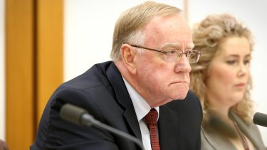 Coalition senator Ian Macdonald led the attack on Solicitor-General Justin Gleeson.