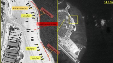 Satellite images released last month of Woody Island, the largest of the Paracel Islands in the South China Sea.  A US official confirmed China has deployed a surface-to-air missile on Woody Island.