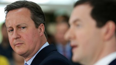 Former prime minister David Cameron with the then chancellor of the exchequer George Osborne earlier in 2016.