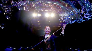 Melody Yang brings her Gazillion Bubble Show to Australia for the first time.