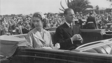 The Queen and the Duke of Edinburgh on tour in Australia in 1954.