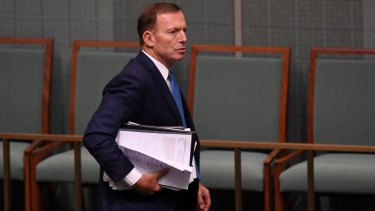 Suffered minor injuries: Former prime minister Tony Abbott.