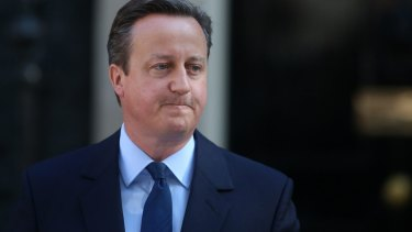 British Prime Minister David Cameron said on Friday he would step down.