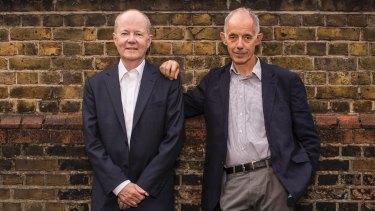 Thornton with his husband, writer Martin Goodman, in London.