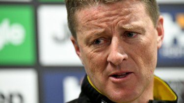 Richmond Tigers coach Damien Hardwick.