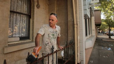 Great history: John Arnold at work on a Millers Point house.