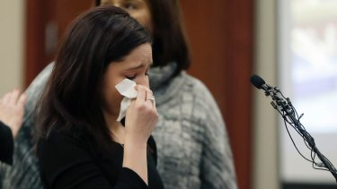 Gymnast Kaylee Lorincz gives her victim impact statement.