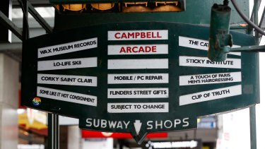 Campbell Arcade's vintage street signage