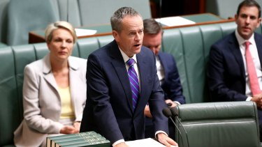 Opposition Leader Bill Shorten speaks out against a same-sex marriage plebiscite as he and Tanya Plibersek present their private members bill.