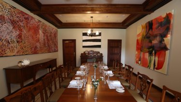 The dining room at the Lodge.