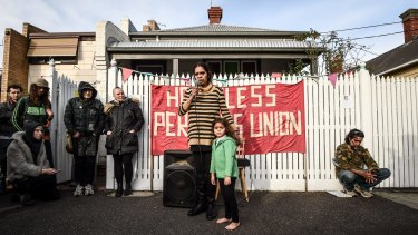 Bendigo Street squatters in Collingwood were served notices to vacate the homes in August.
