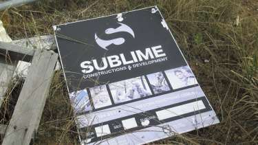 Sublime? Anything but. A Sublime Construction and Development sign in Crace.  Sublime sign.jpg