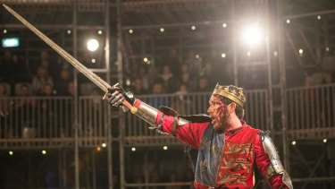 Henry V at the Pop-Up Globe brings its audience close to blood and combat.