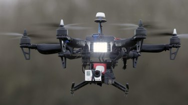 A French company's drone during a demonstration flight.