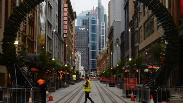 One section of George Street - between King and Market streets - has reopened to pedestrian traffic.