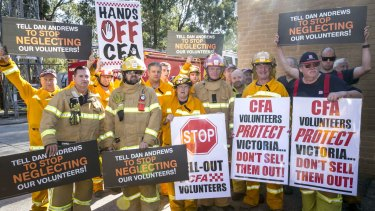 CFA volunteers are fearful that a new pay deal with the union will diminish their work.