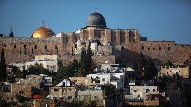 The golden Dome of the Rock and al-Aqsa mosque in occupied East Jerusalem.