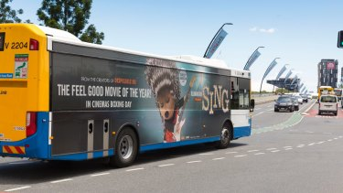 Four per cent of Brisbane buses are covered in advertising wraps.