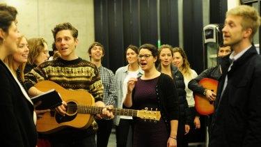 Youthful harmony: Olivia Swift leading CHOIR Canberra.