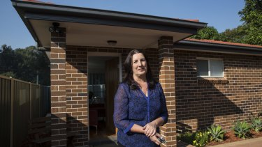 Maria Krohn has built a granny flat in her back garden and is renting it out via Airbnb.