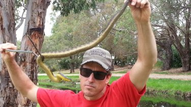 Snake expert Mitchell Ladyman.