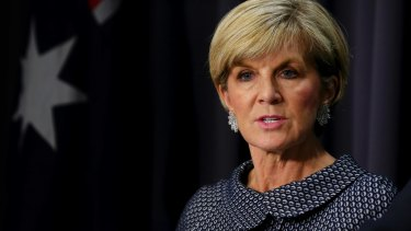 Foreign Minister Julie Bishop.