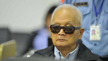 Former official: Former Khmer Rouge leader `Brother Number Two' Nuon Chea.
