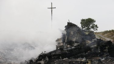 The site of the Malaysia Airlines plane crash in eastern Ukraine.