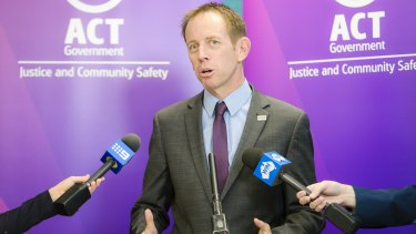 Justice minister Shane Rattenbury.