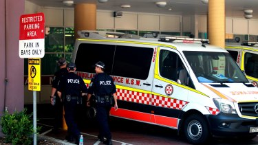 A man is undergoing emergency surgery after being shot at an Ingleburn factory this morning.