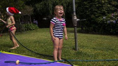 It's not playtime in the backyard without some tears.