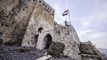 The thousand-year-old Krak des Chevaliers is one of six world heritage sites in Syria endangered by war.